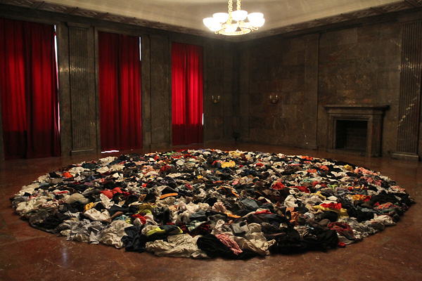 Mandala: Chant for Auschuwitz, Installation at Poznan Biennial in Hitler's former office at Zamek, Poznan